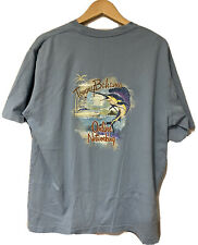 Tommy Bahama Relax Men Blue Online Networking Sailfish T Shirt size L