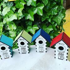 Fathers day Bird Box Dads Birdhouse Suitable Blue/Great Tits Sparrows Finchs etc