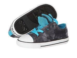 New Infant Girl Converse All Star Chuck Party Ox Black Charcoal Gray 742865F