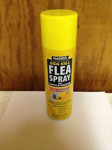 Harris Flea Spray, 14 oz Aerosol Egg Kill Spray Indoor carpet and furniture