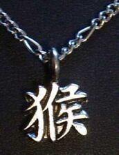 Chinese MONKEY Zodiac Pendant Leo Sterling Silver Charm