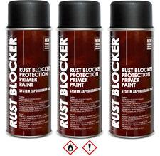 3 x 400 ml Rust Blocker 4in1 Metallschutzlack Rost Schutz schwarz matt RAL 9005
