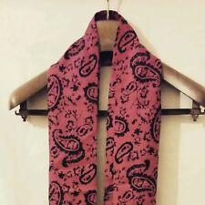 Penrose écharpe/muffler Rouge & Noir Fait à La Main 100% soie 22 cm × 14 cm MADE IN ITALY