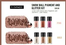 NIB MAC snow ball pigment and glitter kit in Pink