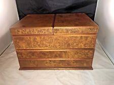 AGRESTI Briarwood Watch & Jewelry Box from Italy