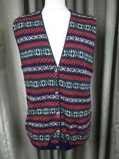 James Pringle Lambswool Fair Isle Waistcoat Cardigan UK14 EU42