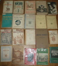 Lotto 82 libri antologie letteratura storia filosofia arte geografia anni 20-50