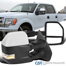 For 07-14 F150 Pickup Power Heated Clear Telescoping Towing Mirrors+LED Signal