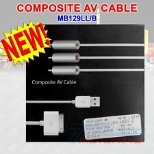 APPLE COMPOSITE AV CABLE iPHONE/iPAD/iPOD VIDEO/NANO 3rd GEN/CLASSIC (MB129LL/B)