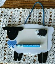 "Memo board, sheep, ""Don't ""ewe"" forget,"" blue, black, white, 9 3/4"" x 7 3/8"""