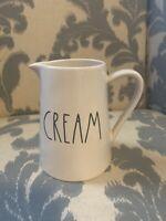 NEW Rae Dunn CREAM Large Letter Creamer Pitcher Ceramic by Magenta