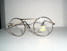 HARRY POTTER STYLE GLASSES BLACK & GOLD FRAME CLEAR LENS