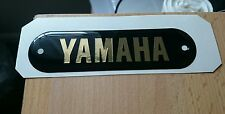 CLASSIC  YAMAHA VINTAGE 60s 70s YM1 TANK EMBLEM SIDE BADGE BLACK & GOLD