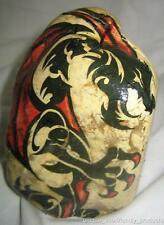 DRAGON #503 tattooed Rock hand made paperweight decorative art piece J Watson