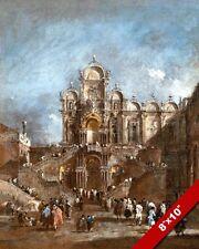 SAN ZANIPOLO VENICE ITALY FAMOUS PLACE PAINTING ART REAL CANVAS GICLEEPRINT
