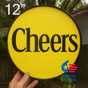 CHEERS framed round poster/sign