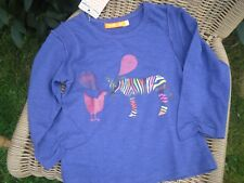 FRED & GINGER Superbe T-shirt longues manches, bleu nuit  6 ans - NEUF