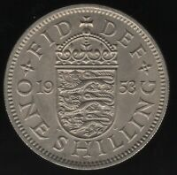 1953 Elizabeth II One Shilling Coin | British Coins | Pennies2Pounds