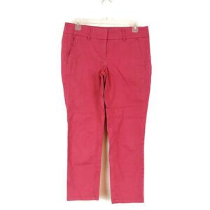 Ann Taylor Loft Womens sz 4P Pants Ankle Pink Chino Pockets Zip Up