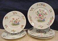 Towle Madras Royale Limoges France 3 Salad and 2 Bread Plates w/ Chips