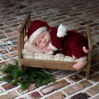 Newborn Baby Girls Boys Christmas Costume Romper  Hat Photo Photography Outfits