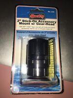 """Scotty 445-BK 2"""" Stick On Accessory Mount w/Gear-Head - Black"""