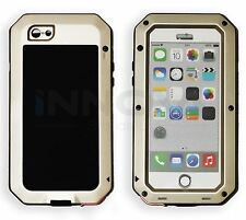 Heavy Duty Shockproof Aluminum Metal Cover Case Apple iPhone Models 6 6S Gold