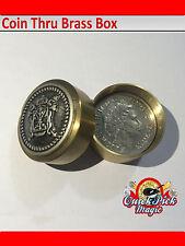 10 PENCE COIN THRU BRASS BOX MAGIC TRICK - VIDEO IN DESCRIPTION - CLOSEUP MAGIC