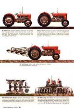 Vintage Massey Ferguson 35 65 Attachments Guide SALES BROCHURE/POSTER ADVERT A3!