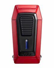Colibri LI970C4 Quantum Inline Triple Flame Cigar Lighter Red Black Pouch