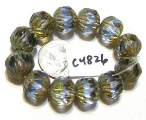 Czech Glass Large Faceted Rounds YOUR CHOICE OF COLOR