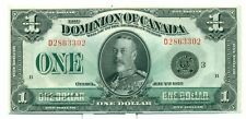 1923 The Dominion of Canada $1 Bank Note D2863302 CH UNC DC25N