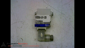 """SMC VQ21A1-5Y-C6 PNEUMATIC AIRFLOW VALVE 1/4"""" FITTING SIZE, NEW* #165810"""