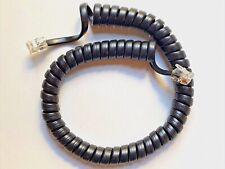 Vintage Modular Coil Handset Telephone Cord - Black 12