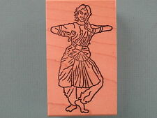 Middle Eastern Woman Dancing RUBY RED RUBBER Rubber Stamp