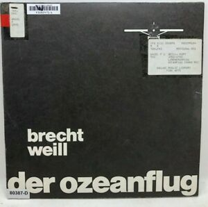 Vintage VINYL RECORD Bertolt Brecht Kurt Weill DER OZEANFLUG Lindbergh Germany
