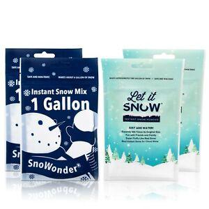 Let it Snow & Snowonder Instantáneo Nieve Polvo Para Limo Y Vacaciones