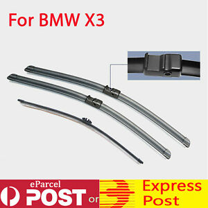 Windscreen Wiper blades suit BMW X3 F25 2010 - 2017 Pair Front + Rear