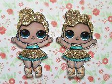 2 x Large Sparkly LOL Doll Flatback Planar Resin Embellishment Craft Bow Decoden