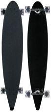 MOOSE Longboard 9 x 47.75 Black COMPLETE Longboards 70MM CLEAR WHEELS