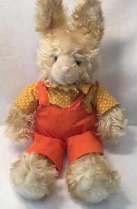 "Russ Bennett Bunny Rabbit w/ overalls Plush 18"" Vintage Plush Stuffed Animal"