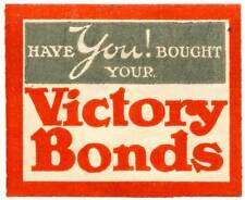 """Canada Poster Stamp - Wwi Victory Bonds Ser. #2 - """"Have You! Bought Your V. B."""""""