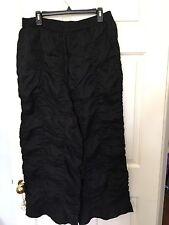 HEBBEDING Pants 2L 2XL Black Linen Lagenlook Dutch Design Plus Wide Leg Pockets