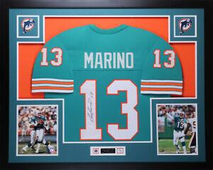 Dan Marino Autographed & Framed Teal Dolphins Jersey Auto JSA COA D8-L