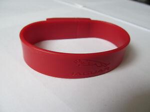 Official Jaguar 1 GB RED Wrist Band USB 2.0 Flash Drive Windows PC Mac Computer