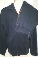 HUGO BOSS Mens Full Zip Front Jogging Track Suit Warm-Up Set Size S Small Black