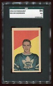 1952 Parkhurst #28 Jim Morrison *Maple Leafs* SGC 84 NM #1372923-020