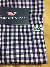 NWT Vineyard Vines Mens Slim Fit Tucker Shirt Long Sleeve Blue Check Sz XS