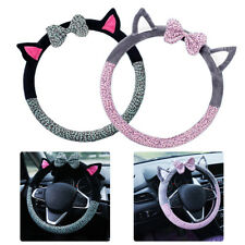 Universal Cute Warm Soft Fuzzy Plush Car Auto Steering Wheel Cover For Winter