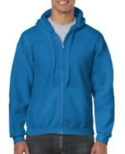 New Gildan Zip Up Hoodie Blend Full Hooded Pocket Sweatshirt Soft Men's 18600